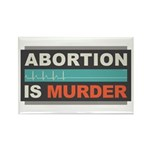 Abortion Is Murder Rectangle Magnet (10 pack)