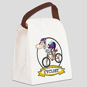 WORLDS GREATEST CYCLIST MEN CARTOON Canvas Lun