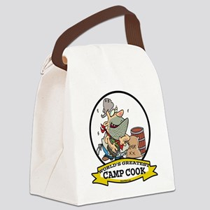 WORLDS GREATEST CAMP COOK CARTOON Canvas Lunch