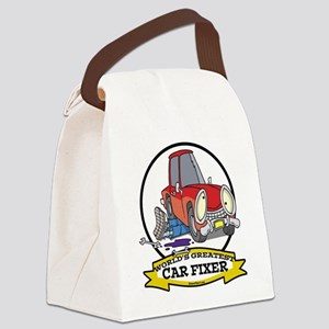 WORLDS GREATEST CAR FIXER CARTOON Canvas Lunch