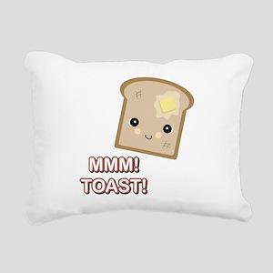 mmm toast Rectangular Canvas Pillow