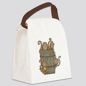 barrel of monkeys Canvas Lunch Bag