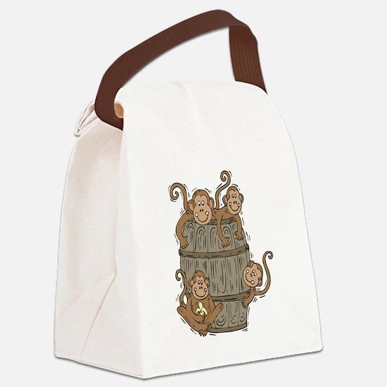 barrel of monkeys.png Canvas Lunch Bag