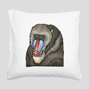 baboon Square Canvas Pillow