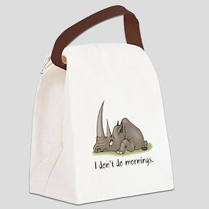 mornings rhino Canvas Lunch Bag