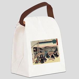 The tea house Shokintei at Yushima - Hiroshige And