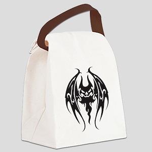 tattoo style bat Canvas Lunch Bag