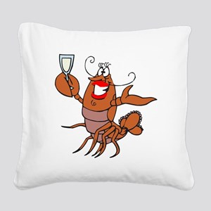 tow lobster file Square Canvas Pillow