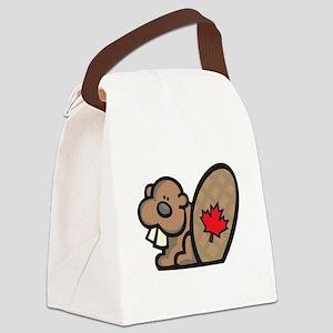 cute canadian beaver Canvas Lunch Bag