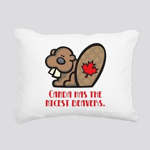 nicest beavers Rectangular Canvas Pillow