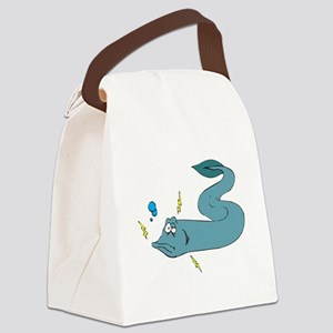 silly electric eel Canvas Lunch Bag
