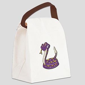 purple rattle snake copy Canvas Lunch Bag