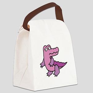 purple alligator Canvas Lunch Bag