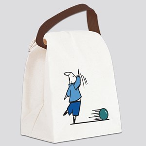 bowling cow Canvas Lunch Bag