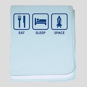 Eat Sleep Space baby blanket