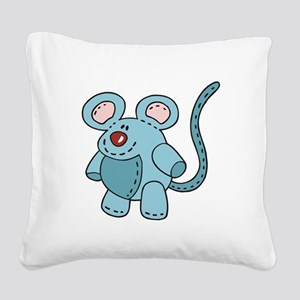 stuffed mouse Square Canvas Pillow
