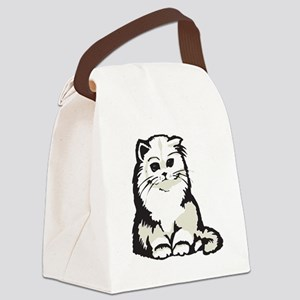 cute white persian kitten Canvas Lunch Bag