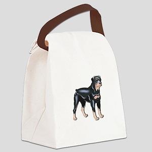 rottweiller copy Canvas Lunch Bag