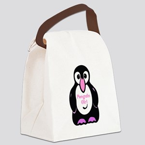 penguin girl Canvas Lunch Bag