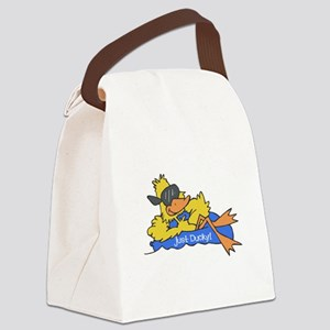 duck on raft Canvas Lunch Bag
