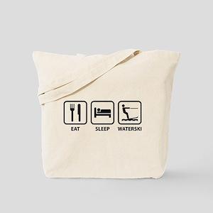 Eat Sleep Waterski Tote Bag