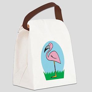 cute cartoon flamingo Canvas Lunch Bag
