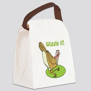 wiggle it funny turkey Canvas Lunch Bag