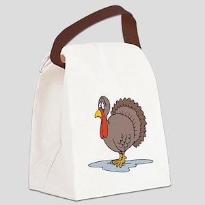 sad little turkey Canvas Lunch Bag