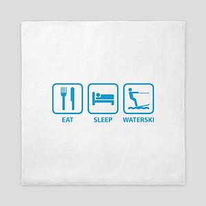 Eat Sleep Waterski Queen Duvet