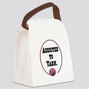 addicted to yarn Canvas Lunch Bag