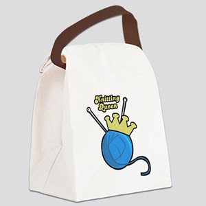 knitting queen Canvas Lunch Bag