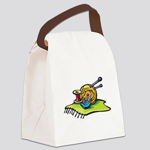 knitting supplies Canvas Lunch Bag