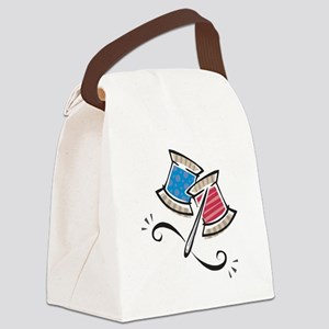 needle and thread Canvas Lunch Bag