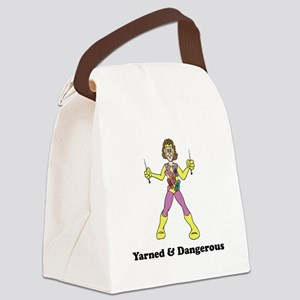 yarned and dangerous Canvas Lunch Bag