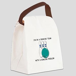 bowling prob Canvas Lunch Bag
