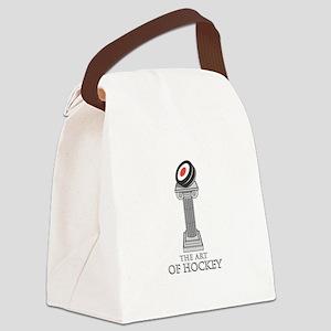 artofhockey copy Canvas Lunch Bag