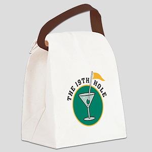 19th hole martini copy Canvas Lunch Bag