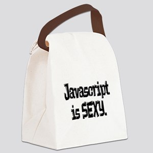 javascript is sexy Canvas Lunch Bag