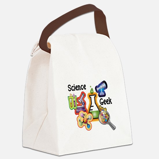 science geekfixed.jpg Canvas Lunch Bag
