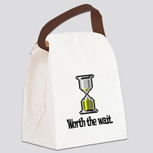 worth the wait hourglass Canvas Lunch Bag