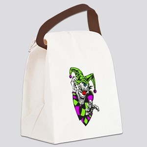 grabbing evil clown Canvas Lunch Bag
