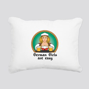 german girls are easy Rectangular Canvas Pillo