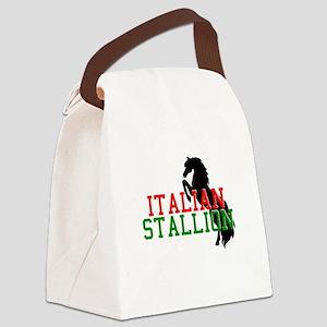 italian stallion black Canvas Lunch Bag