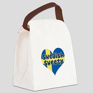 swedish flag copy Canvas Lunch Bag