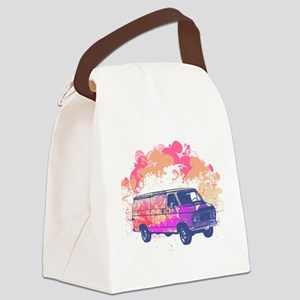 grunge retro hippie van Canvas Lunch Bag