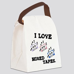 I Love Mixed Tapes Canvas Lunch Bag