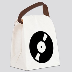 retro vinly record Canvas Lunch Bag