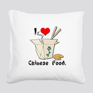 chinese food Square Canvas Pillow