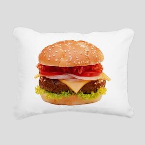 yummy cheeseburger photo Rectangular Canvas Pillow