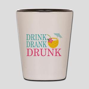 Drink, Drank, Drunk Shot Glass